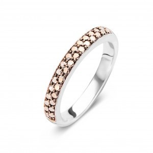 Ti Sento Ring 925er Silber mit Muster in rosegold Gr. 56