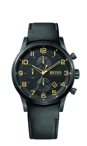 Boss - 1513274 - AEROLINER CHRONO Black & Gold Collection Herrenuhr