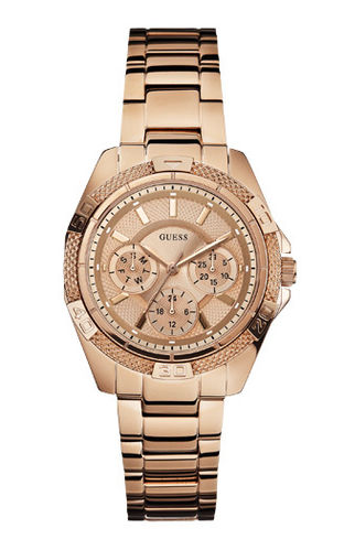 Guess Damenuhr Multifunktion rosegold