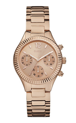 GUESS Damenuhr Riviera Multifunktion rosegold