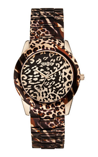 Guess Damenuhr Vixen Animal Print