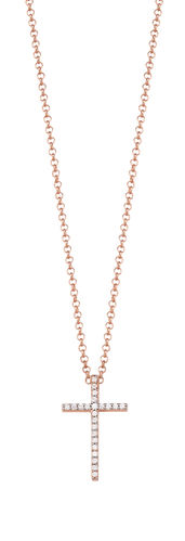 Esprit Glam Cross rose Kette