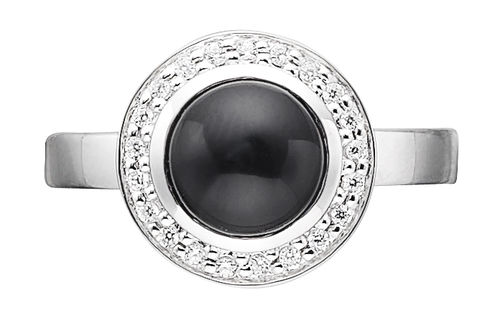 Story - 4905792  - Ring Onyx silber