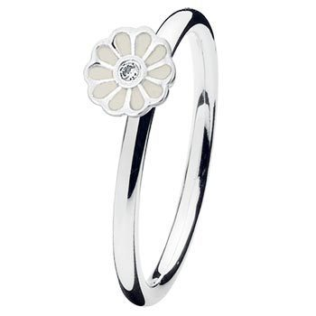 Spinning - PRIMO 14908 - Ring Mini blossom white Silber
