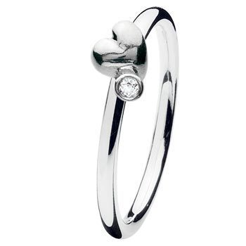 Spinning - PRIMO 16401 - Ring Heart twist Silber