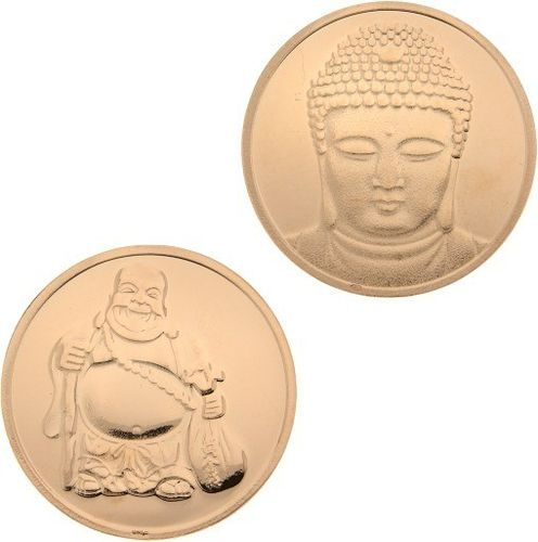 MYiMenso - 27173 - Insignia coin - Silber rose-vergoldet 33mm - Buddha