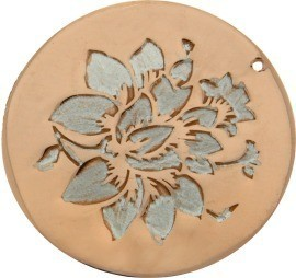 MYiMenso - 29473 - Insignia cover - Silber rosegold 24mm - Blume