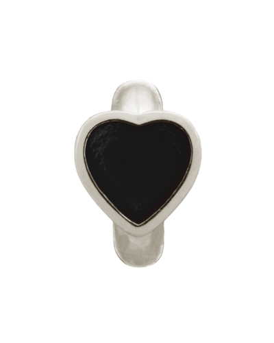 Endless - 41200-2 - Black Enamel Heart Silver