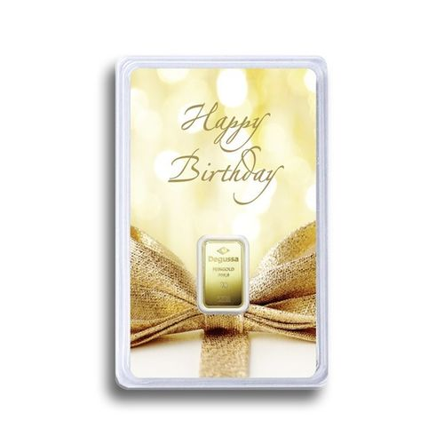 "Investment - G10003 - 1g Goldbarren ""Happy Birthday"""